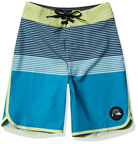 Quiksilver Boys' Big Highline Tijuana Youth 17 Boardshort Swim Trunk, Caribbean Sea, 28/14
