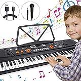 Piano Numérique, Magicfun Clavier Portable 61 Touches Clavier de Piano Enfants avec Micro Enceintes Intégrées Cadeaux...