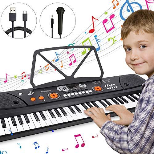 Teclado Piano 61 teclas, Magicfun Teclado de...