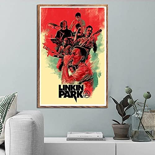 ThinkingPower Parete La Stampa Chester Bennington Music Group Singer Star Pittura Poster Stampe Picture Decor 60x90cm