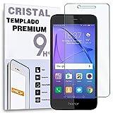 REY Protector de Pantalla para Huawei Honor 6A, Cristal Vidrio Templado Premium