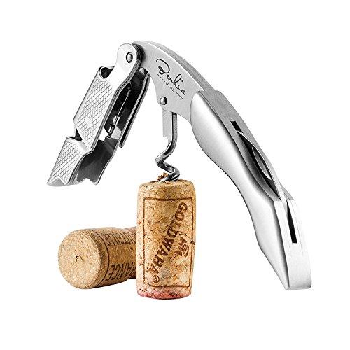 BENKIA Cavatappi in acciaio inossidabile - Cavatappi di qualità per uso professionale con apribottiglia e tagliacapsule - apribottiglie