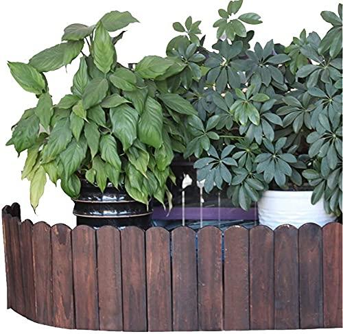 Recinzioni per Giardino Staccionata per Giardino Recinzione in legno Carbonizzazione ad alta temperatura Protezione delle piante Steccato Impregnazione Decorazione del giardino ZHEYANG Staccionata Mod