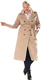 81e33ceeacf Jessica London Women s Plus Size Double Breasted Long Trench Coat