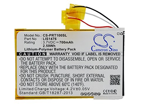 Ebook Reader Akku,passend für [Sony] PRS-T1,PRS-T2,ersetzt [Sony] LIS1476,1-853-104-11,LIS1476MHPPC(SY6),