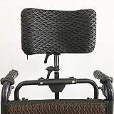 Silla de ruedas reposacabezas silla de ruedas eléctrica almohada aleación de aluminio fácil de instalar/reposacabezas gama ajustable: 350 mm-500mm,Black