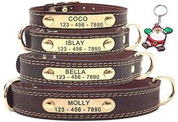 laisse de chien assortie, veuillez entrer ASIN: B08CRHML1V.COLLIER POUR CHIEN 100% CUIR VÉRITABLE - Fabriqué en peau de vache véritable, couche supérieure importée, résistant à l'usure. Des embarcations de haute qualité maintiennent le collier assez ...