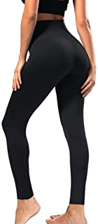 SYRINX High Waisted Leggings for Women - Soft Athletic Tummy Control Pants for Running Cycling Yoga Workout - Reg & Plus Size