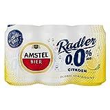 24 x Amstel Radler 0% Citroen/Zitrone (24 x 0,33L Einweg-Dosen) Alkoholfrei- inkl. gratis FiveStar Kugelschreiber