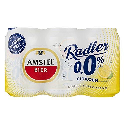 Amstel Radler 0% Citroen/Zitrone (24 x 0,33L Einweg-Dosen) Alkoholfrei- inkl. gratis FiveStar Kugelschreiber