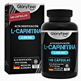 L Carnitina Pura 2000 mg - 140 Cpsulas Veganas - Potente Quemagrasas con 3000 mg...