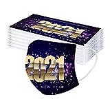 FFQY Adult 2021 Happy New Years Mundschutz, Mund und Nasenschutz, Bandana Face Cover Mouth Cover Waschbar Atmungsaktiv Multifunktionstuch Halstuch Mundbedeckung Schutz