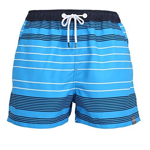 Short de bain rayé bleu de Ceceba grandes tailles jusqu'au 7XL, Taille:5XL