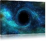 Schwarzes Loch im Weltall, Format: 100x70 auf Leinwand, XXL