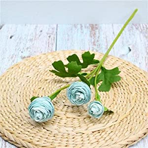 Artificial and Dried Flower Heads Silk Ranunculus Artificial Flowers Asiaticus Rose Fake Flowers Spring Wedding Decoration DIY for Home Party 1pc B2086