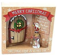 Magica porta dell'elfo di Natale per rendere l'avvento ancora più emozionante. Il portale perfetto per gli elfi di Babbo Natale per entrare e uscire da casa. Assicurati di scrivere i tuoi desideri per Natale sulla carta pergamena. Gli elfi porteranno...