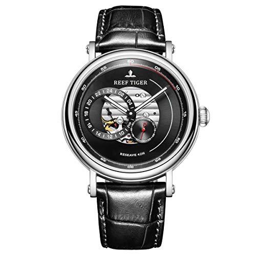 Reef Tiger Top marca de lujo automático reloj hombres impermeable reloj mecánico reloj reloj rga1617