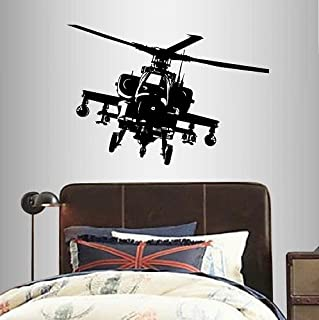 Wall Vinyl Decal Home Decor Art Sticker Military Helicopter Fly Boy Man Nursery Bedroom Kids Any Room Removable Stylish Mural Unique Design 156