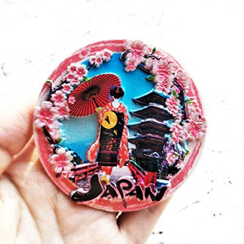 GGZX Tokio Japan Kühlschrank Aufkleber Mount Fuji Hokkaido Nagasaki Osaka Reise Denkmal Magnet Kühlschrank Magnete, B, China