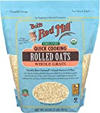Bob's Red Mill Organic Quick Cooking Rolled Oats (32 Ounce, Pack of 2)