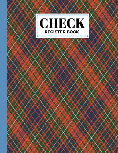 Check Register Book: plaid Cover Check Register Book, A Simple Checking Account Transaction Register, 120 Pages, Size 8.5