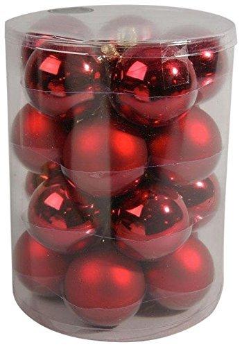 Decoris Christbaumkugeln, glänzend, matt, Rot