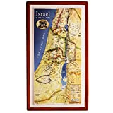 Raised Relief 3D Map of 12 Tribes Israel (Biblical Times)