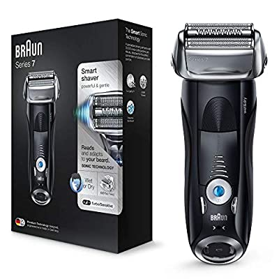 Braun Series 7 Electric Shaver for Men 7840s, Wet and Dry, Integrated Precision Trimmer, Rechargeable and Cordless Razor with Travel Case, Black from Procter & Gamble