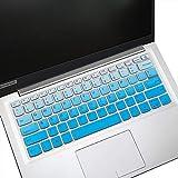 MUBUY Design für Lenovo Ideapad 14 Tastatur Cover für Lenovo IdeaPad 14 130 130S S150 330 330S S340 530S 730S S145| Lenovo IdeaPad 1 Idepad 3 14 US-Tastatur Skin-Gblue