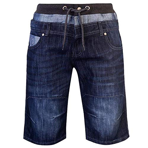 Geen angst Mens Dubbele Taille Shorts Rits Vlieg Sluiting