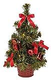 III yh790a/14R Decoración Árbol Navidad Con 10LED de Blanco Cálido, aprox. 35x 19cm, plástico, multicolor/rojo