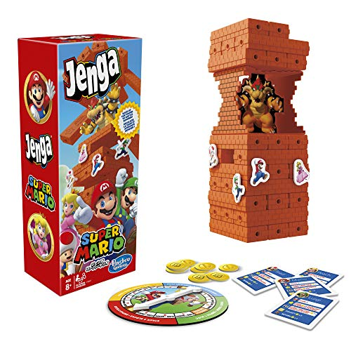Hasbro Gaming Jenga: Super Mario Edition Game, Block Stacking Tower Game for Super Mario Fans, Ages 8 and Up
