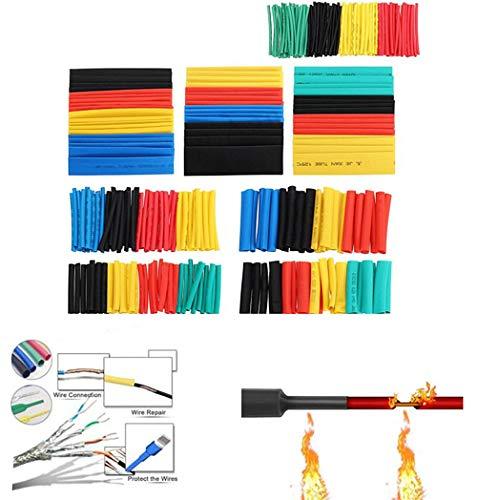 164-teiliges Schrumpfschlauch-Set, elektrische Isolierung, Schrumpfschlauch, Kabelmanschette, 5 Farben in 8 Größen