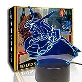 KangYD Luz nocturna 3D Pokemon Snake Dragon Animal, lámpara de ilusión LED, G - Control de Telefonía Móvil, Luces de navidad, Regalo para niños, Lámpara infantil
