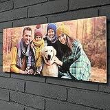 Wood Expression Cuadro de Madera panorámico Personalizado con Tus Fotos para una decoración única para tu casa. Formato en Varios tamaños para diseñar Online. (70x30 cm.)