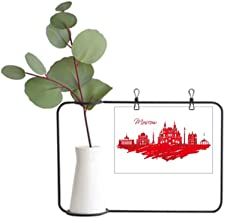 DIYthinker Moscow Red Cathedral Russia City Metal Picture Frame Ceramic Vase Decor