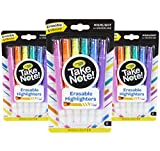 Crayola Take Note Erasable Highlighters Markers, School Supplies, Kids At Home Activities, 18 Count (Toy)