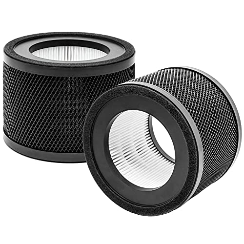 WOCASE TT-AP001 True HEPA Filter Replacement, Compatible with TaoTronics TT-AP001 Air Purifier, H13 True HEPA Filter & Activated Carbon Filter, 2 Pack