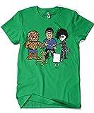 541-Camiseta Big Bang Theory - Piedra Papel Tijera. Verde Irlandes-L