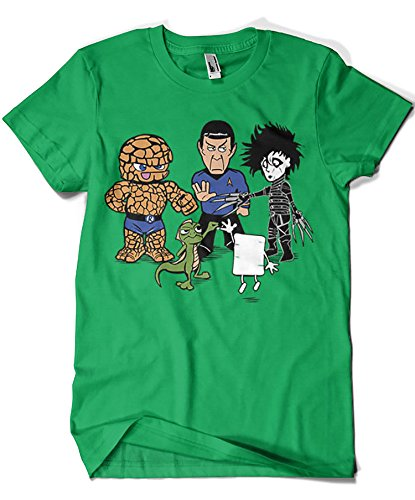 541-Camiseta Big Bang Theory - Piedra Papel Tijera. Verde Irlandes-S