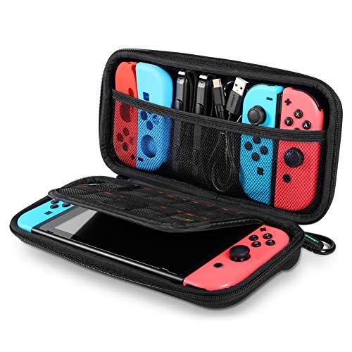 Capa de transporte com interruptor UGREEN para Nintendo Switch, capa rígida para viagem, bolsa protetora com 9 compartimentos para cartões, compartimentos para cartão para Nintendo Switch Console Pro Controller Accessories