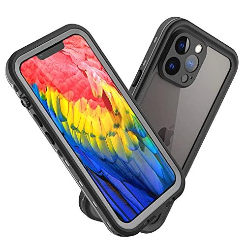 ShellBox für iPhone 13 Pro Hülle IP68 wasserdichte Handyhülle Staubdicht Stoßfest iPhone 13 Pro Hülle,Ganzkörperversiegelte Unterwasser Schutzhülle für iPhone 13 Pro Schwarz
