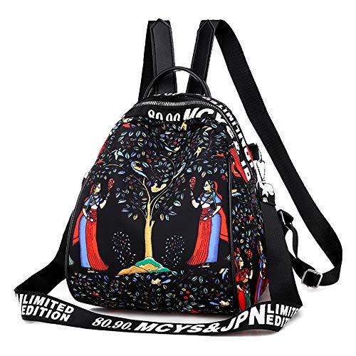 WGRACE Frauen-Rucksack-Geldbeutel-Umwandelbarer Rucksack-Bewegliche Dauerhafte Leichte wasserdichte Beiläufige Atmungsaktive Schultaschen, Oxford,B