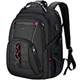 KROSER Travel Laptop Backpack 17.3 Inch XL Computer Backpack Stylish College Backpack with USB Charging Port & RFID Pockets Water-Repellent Day pack for School/Business/Men/Women-Black