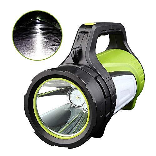 GLJJQMY Projecteur LED Rechargeable Portable Portable Spotlight Camping Light, Puissance mobile Haute puissance Super Bright 5600 mAh Tactical Lightlight Adventure Light lampe de poche
