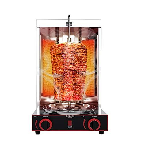 Gas Shawarma Doner Kebab Machine Gyro Grill Griglia verticale con interruttore di regolazione della temperatura 50-300 ℃ per cucina domestica commerciale