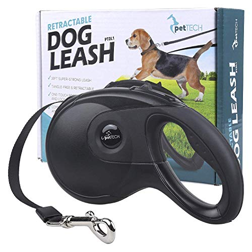 PetTech Dog Lead Retractable Dog Leash, 16FT Super Strong Leash,...