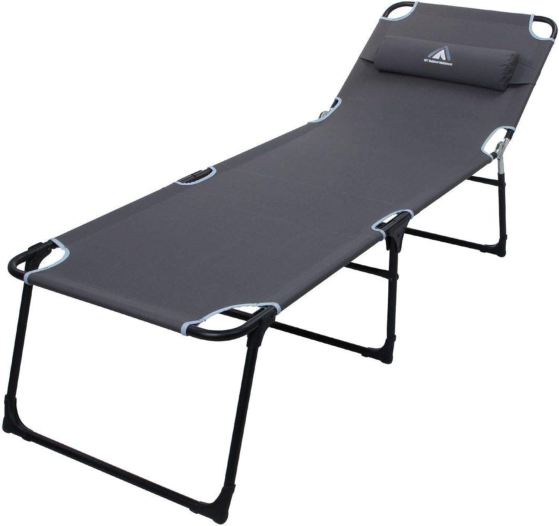 sorteos de estadio 10T Outdoor Equipment Unisex - Tumbona de Camping para para para Adultos Jessey con Almohada, Plegable, 195 x 65 x 40 cm, Color gris  edición limitada en caliente