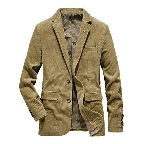 Men's Jacket Hoodie Cardigan Hooded Pullover Vintage Men's loose casual suit-khaki_M
