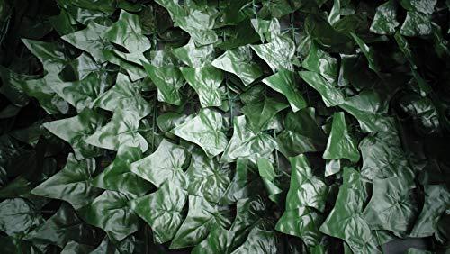 Sichtschutz Kunsthecke Efeu - 2,80 x 1,45 m - schnell angebracht - künstliche Hecke - Kunststoffhecke - Blattnachbildung Efeu